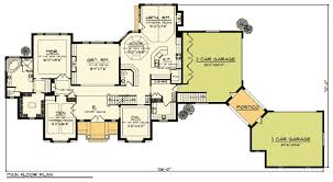 Grand Two Story Home Plan   Arched Portico   AH   st    Floor Plan