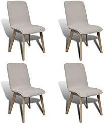 Daonanba Set of 4 Pieces Beige Wood Legs <b>Fabric Oak</b> Modern ...