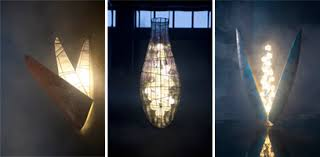 intended to double both as lighting fixtures and artistic sculptures the pieces of his exhibit mark the first time lindfors has worked exclusively with the artistic lighting fixtures