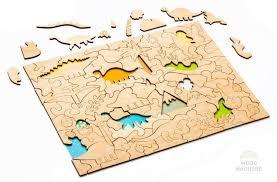 <b>Пазл Динозавры</b>, игрушка из дерева, купить за 681 руб.