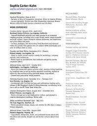 resume experience sophia carter kahn complete resume