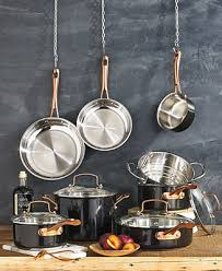 Cuisinart Onyx Black & <b>Rose Gold</b> 12-<b>Pc</b> Stainless Steel Cookware ...