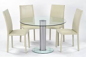 faux leather chairs cream dining decosee round lacquered birch wood kitchen table with velvet parsons chairs