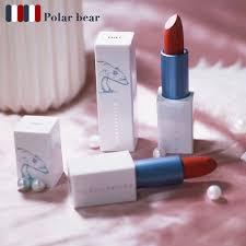 Diki Polar Bear Moisturizing Lipstick <b>6Colors Matte</b> Velvet Foggy ...