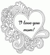 Small Picture I Love You Mom Coloring Pages Coloring Home
