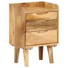 Alpen Home <b>Bedside Cabinet Solid Mango</b> Wood 40X30x59.5 Cm ...
