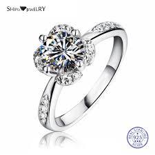 <b>ShiPei 100</b>% <b>925 Sterling</b> Silver Ring Fine Jewelry 2ct Created ...