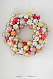 cheap christmas decor: ornament wreath you can make cheap diy christmas decorations
