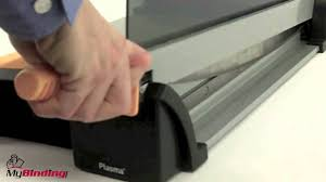 How To Use A Guillotine Paper Cutter - YouTube