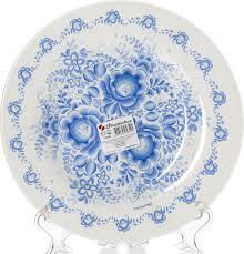 "<b>Тарелка обеденная Pasabahce</b> ""Гжель"", диаметр 26 см — купить ..."