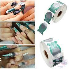 FD   <b>500pcs</b>/<b>roll Nails</b> Extension <b>Form</b> Green Horseshoe <b>Shape Nail</b> ...