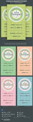 17 best images about ticket template set of vintage banquet ticket template