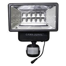solar security lamp post white