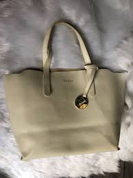 Authentic FURLA '<b>SALLY</b>' Textured SAFFIANO LEATHER 'Divide-It ...