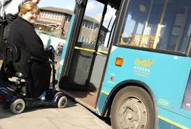 Image result for bus and mobility scooter