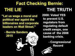 Image result for sanders is the only one telling the truth