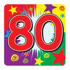 Image result for 80th birthday