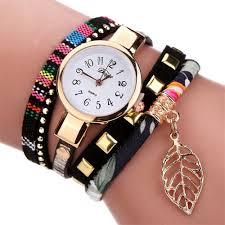 Duoya Ladies Watch Cute Leaf Style Bracelet Watch Sale, Price ...