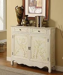 Powell White <b>Hand Painted</b> 2 Drawer, 2-Door <b>Console</b>