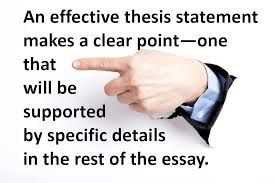 exercise in identifying effective thesis statements