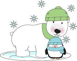 Image result for clipart for january polar bear