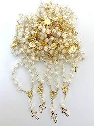 Casa Ixta Clear Mini Rosaries 25pcs: Clothing - Amazon.com