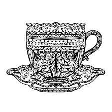 Stock Photo   Doodling   Tea cup drawing, Tea cup art и Tea cups