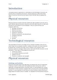 physical and technological resources