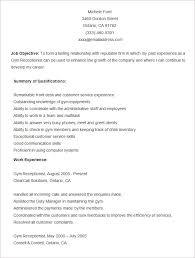 microsoft word resume template –    free samples  examples    sample gym resume template
