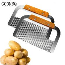 <b>1Pcs</b> Wave Potato Cutter Large Size Handle Knife <b>Potato Chip</b> ...