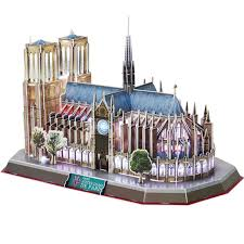 <b>Classic Jigsaw Puzzle Architecture</b> City Voice control LED Notre ...