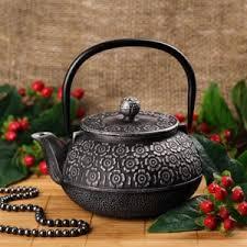 "<b>Чугунный заварочный чайник</b> YOKUTA с ситом ""Кенжу"", <b>900</b> мл ..."