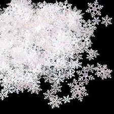 800 Pcs White Snowflakes Confetti 3 Sizes Snowflake ... - Amazon.com