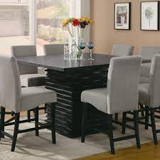 room fascinating counter height table storage black