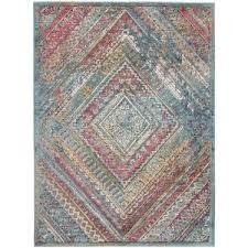 Amer Rugs Exaterville <b>Red</b>-<b>Green Geometric</b> 7 ft. 3 in. x 9 ft. 2 in ...