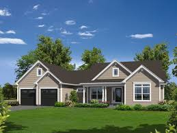 Hailey Country Ranch Home Plan D    House Plans and MoreCountry House Plan Front of Home   D    House Plans and More