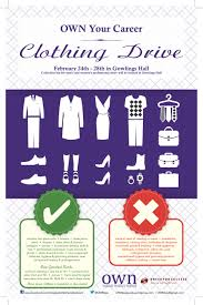 own presents dress for success clothing drive own osgoode