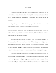 history of english essay a brief history of english essay
