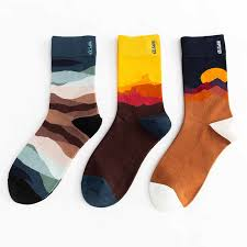 <b>Unisex Rainbow Color Men</b> Socks 100 Cotton Harajuku Weather ...