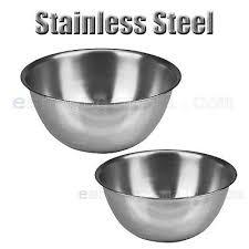 <b>2 PCS</b> Stainless Steel Kitchen Cooking Serving Set <b>Mixing Bowls 2</b> ...