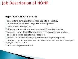 presentation of jd re          position  human resource manager