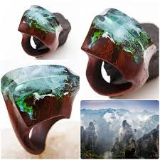 Avatar <b>wooden</b> resin <b>ring Eco</b> epoxy jewelry Green <b>Wood</b> the secret ...