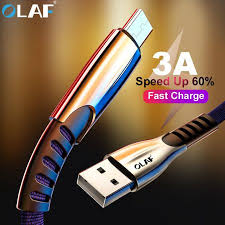 <b>Olaf</b> Micro USB Cable <b>3A Fast Charging</b> Charger for Xiaomi ...