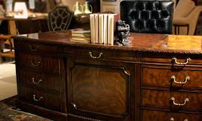 antique reproduction desk shown in a traditional office antique mahogany large home office unit