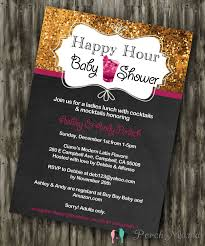 happy hour shower happy hour baby shower invite
