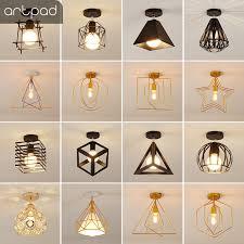 <b>Artpad Vintage Ceiling Lights</b> Black White Golden Loft Led Ceiling ...