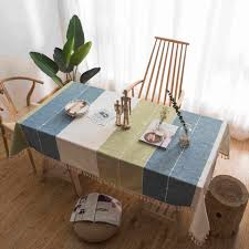 Online Shop <b>2019 New</b> Korean style Linen Cotton Tablecloth Coffee ...