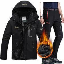 <b>Ski suits</b> Men Waterproof Fleece <b>Snow Jacket</b> Pants Thermal Ski ...