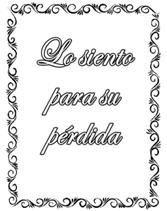 Spanish Sympathy Greeting Cards Lo Siento Para Su Perdida I'm ...