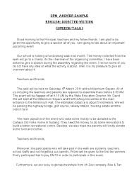 answer sample of spm directed writing speech cover letter gallery of example speech essay